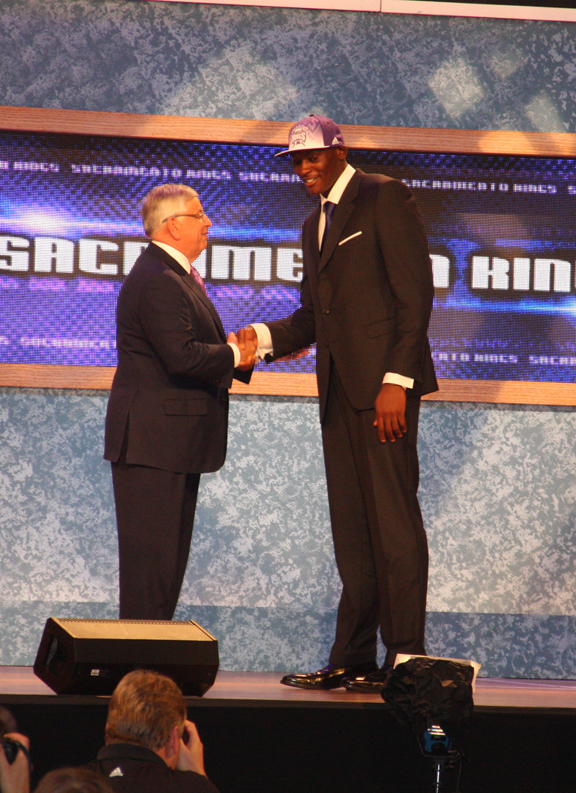 Seventh Overall Pick Bismack Biyombo Selected in the NBA Draft
