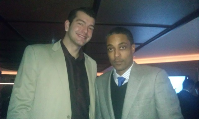 Josh Harrellson and Rod Strickland