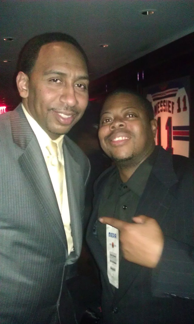 "Stephen A. Smith with Derrel ""Jazz"" Johnson"