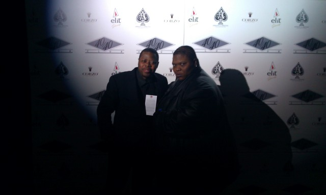 "Derrel ""Jazz"" Johnson and Cleveland Duquan Matthews on Red Carpet"