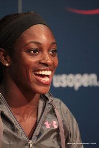 Sloane Stephens Flashes Her Winning Smile. Photo by Margot L. Jordan